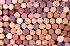 Closeup of used wine corks Royalty Free Stock Photo