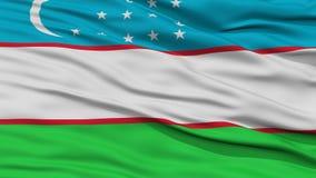 Closeup Uzbekistan Flag Stock Photography