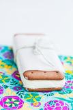 Ice cream biscuit Royalty Free Stock Photo