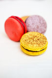 Closeup of varieties of macarons Stock Photography
