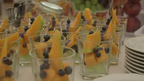 Various Cake Pops with fruits On Table stock video