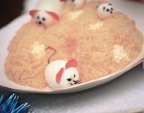 Closeup.a vegetarian dish at the Christmas table Stock Photography