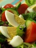 Closeup of vegetarian salad with eggs. Royalty Free Stock Images
