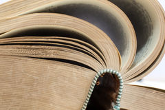 Closeup of very old opend book Royalty Free Stock Image
