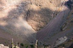 Closeup of the Vesuvius crater Stock Images