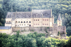 Closeup of the Vianden Castle, Luxembourg Royalty Free Stock Image