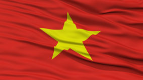Closeup Vietnam Flag. Waving in the Wind, High Resolution Royalty Free Stock Image
