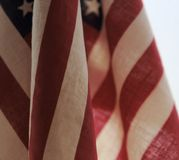 Closeup view of American flags Royalty Free Stock Photo