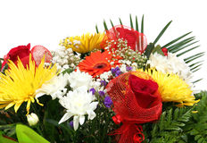 Assorted flowers in bouquet closeup Stock Images