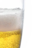 Closeup view of beer foam in glass Royalty Free Stock Images