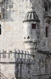 Closeup view of Belem Tower Royalty Free Stock Photography