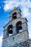 Closeup view on bell tower Royalty Free Stock Photos