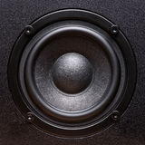 Closeup view of black bass speaker Stock Images