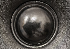 Closeup view of black tweeter speaker Royalty Free Stock Images