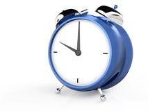 Closeup view of blue alarm clock Royalty Free Stock Photo