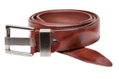 Closeup view of brown men belt Stock Photo