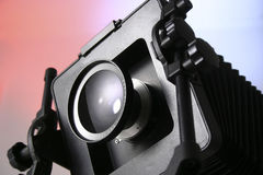 Closeup of View Camera Stock Image