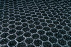 Closeup view on carbon air filter for HVAC technology.  stock photography