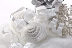 Closeup view of Christmas decorations Royalty Free Stock Photo
