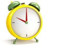 Closeup view of colorful alarm clock Stock Images