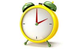 Closeup view of colorful alarm clock Stock Photo
