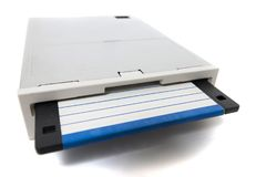 Computer floppy drive Royalty Free Stock Images