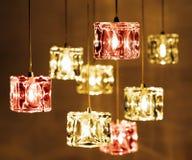 Closeup view of contemporary light fixture Royalty Free Stock Photos