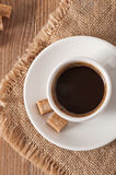 Closeup view of a cup of coffee Royalty Free Stock Photography