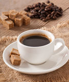 Closeup view of a cup of coffee Royalty Free Stock Image