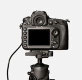 Closeup view of digital camera Royalty Free Stock Photos