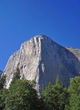 Closeup View of El Capitan Peak in Yosemite Royalty Free Stock Photo