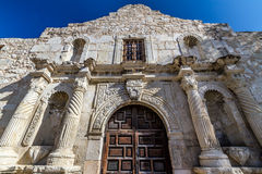 Closeup View of the Entrance to the Famous Alamo, San Antonio, Texas. Closeup View of the Entrance to the Historic Alamo, near Sunset, in San Antonio, Texas royalty free stock photography