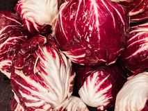 Beautiful view of fresh appetizing red cabbage, delicious vegetables food background Stock Photo