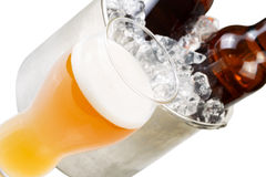 Closeup view of Freshly poured Beer Royalty Free Stock Photos