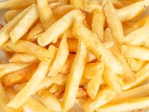 Closeup view of french fries. Food background stock images