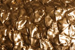 Closeup view of gold pineapple royalty free stock photo