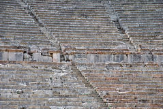 Closeup view of Greek ancient theatre Royalty Free Stock Image