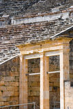 Closeup view of Greek ancient theatre Royalty Free Stock Photos