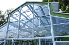 The closeup view of greenhouse framework Royalty Free Stock Photography