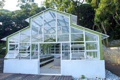 The closeup view of greenhouse framework Stock Photo