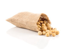 Closeup view of hazelnuts Royalty Free Stock Image