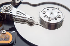 Closeup view of hdd cylinder Stock Photography