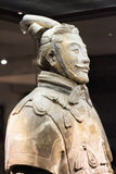 Closeup view of high-ranking officer of the Terracotta Army Royalty Free Stock Images