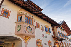 Closeup view of a hotel in Garmisch-Partenkirchen Stock Photos