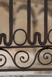 Closeup view of hte forged barrier in the gothic cathedral of Le Stock Image