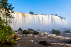 Closeup view of Iguazu Falls in Brazil Stock Images
