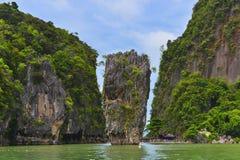 James Bond Island in Thailand. Closeup view of James Bond Island in Thailand Stock Photography