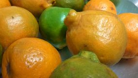 Juicy Oranges. A closeup view of juicy fresh oranges fruit royalty free stock photography