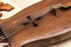 Closeup view of a lyre. The ancient Musical instrument Royalty Free Stock Photos