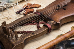 Closeup view of a lyre Royalty Free Stock Photo